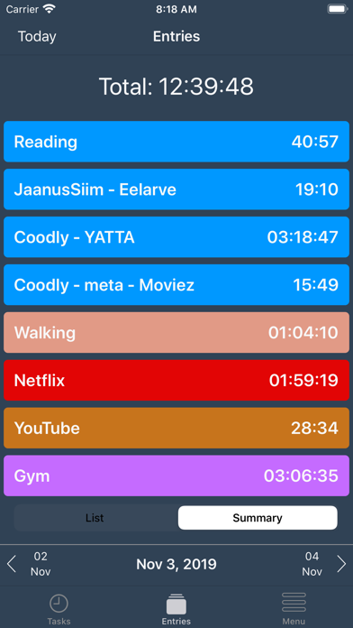 YATTA - time tracking screenshot three