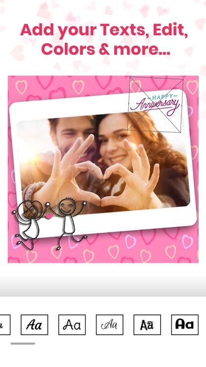 Anniversary Photo Frames Cards screenshot-5