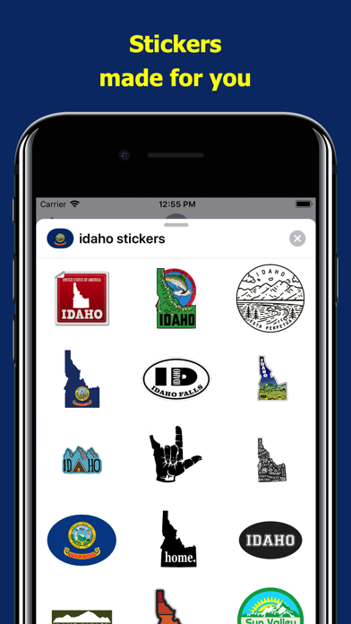 Idaho emojis - USA stickers screenshot 1