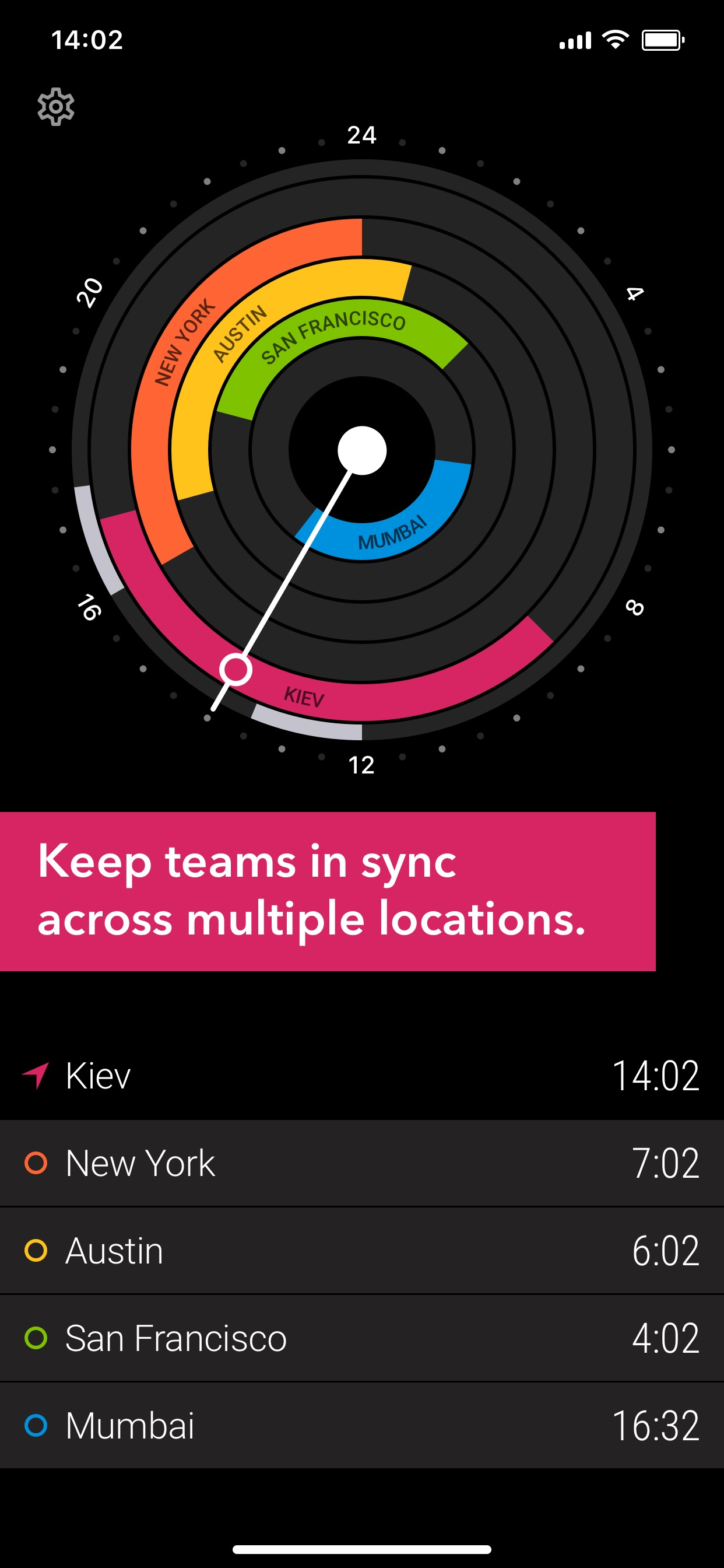 Keep teams in sync across multiple locations