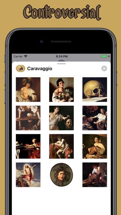 Caravaggio Stickers