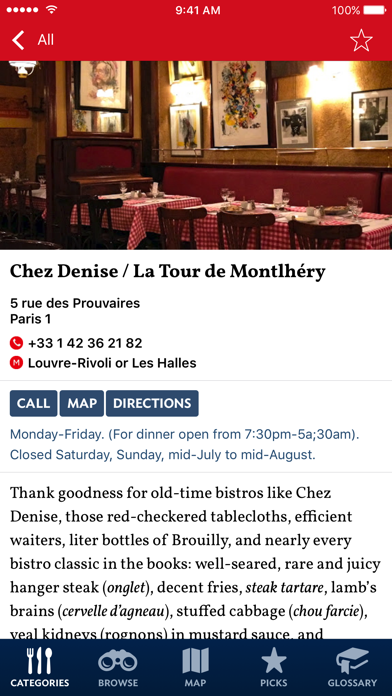 The New Food Lover's Guide to Paris - Sample screenshot