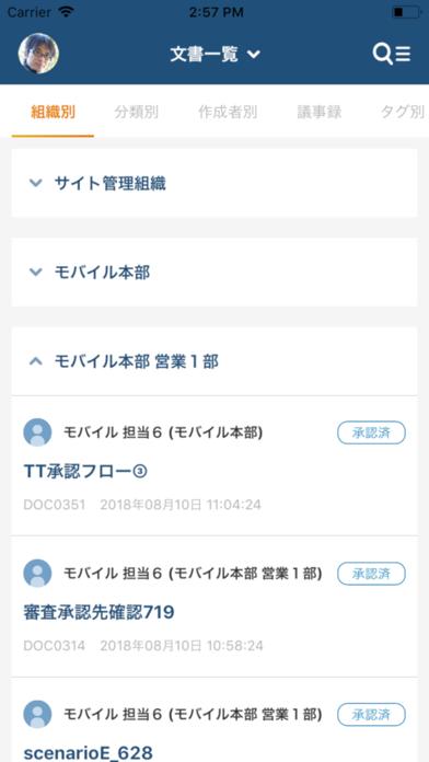 文書管理のスクリーンショット2