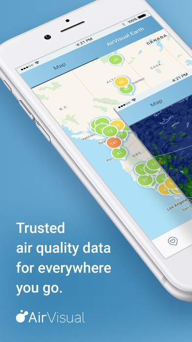 Screenshot for AirVisual Air Quality Forecast in United States App Store