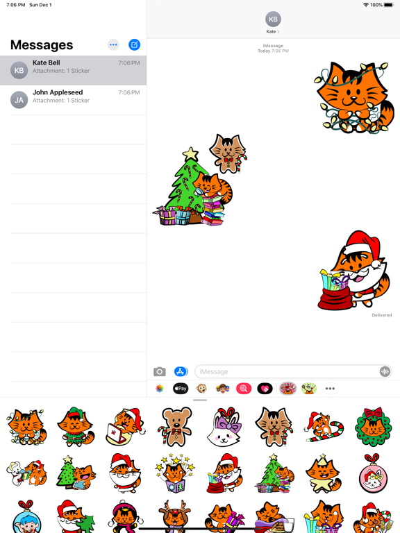 Kikimoji Christmas Love screenshot 8