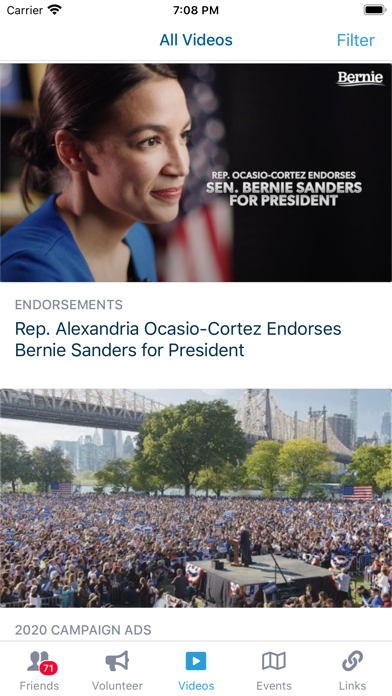 messages.download BERN: Official Bernie 2020 App software