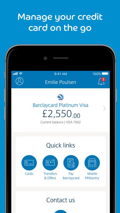 Barclaycard screenshot one