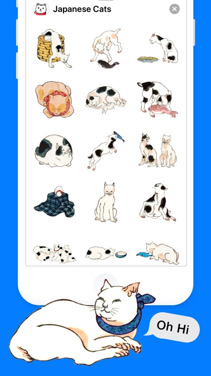 Japanese Cat Stickers screenshot-2