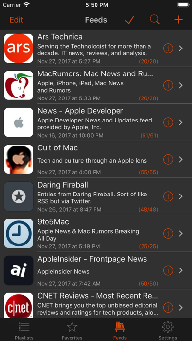 Legi (RSS Feed Reader) screenshot1
