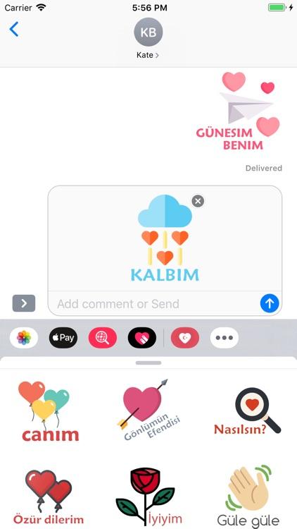 Turkish Love Stickers screenshot-5