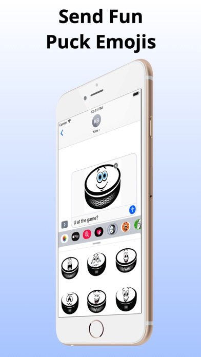 Screenshot for Ice Hockey Puck Emojis in United States App Store