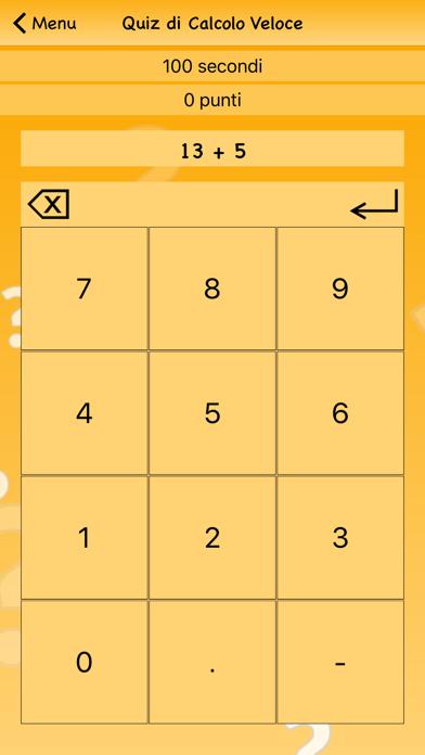 Screenshot of Quiz di Calcolo Veloce1