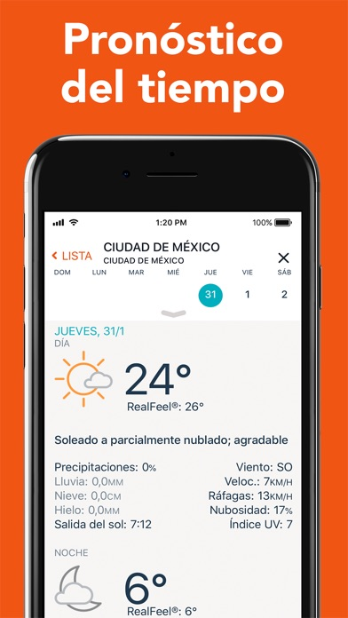 Screenshot for AccuWeather: rastrear tiempo in Dominican Republic App Store