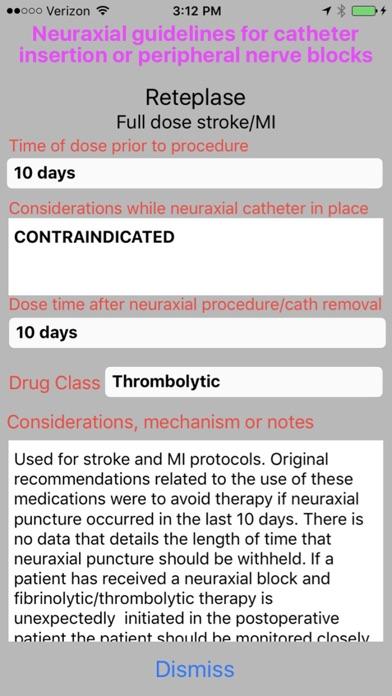 Neuraxial coagulation guide screenshot two
