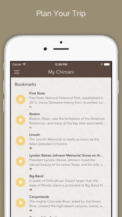 Chimani - National Park Guides Screenshot