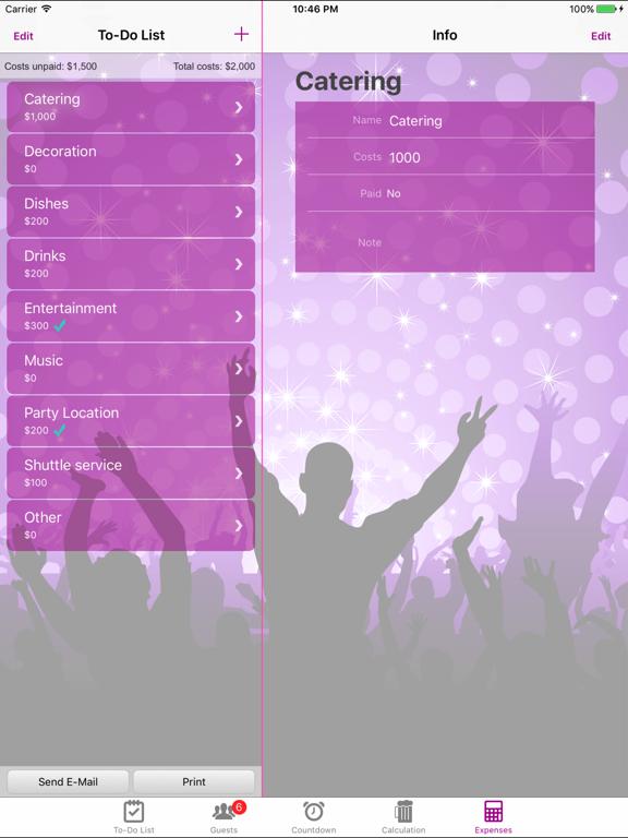 Party & Event Planner Lite screenshot