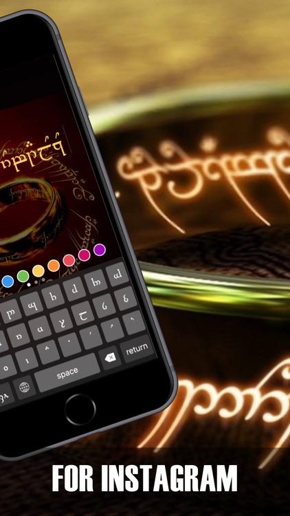 LOTR keyboard: Tengwar