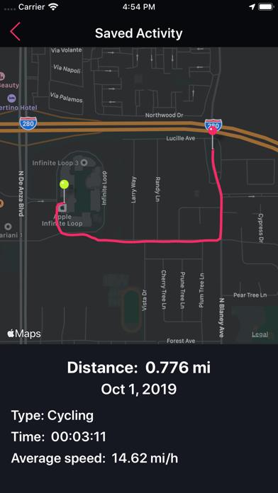 Running Tracker Screenshots
