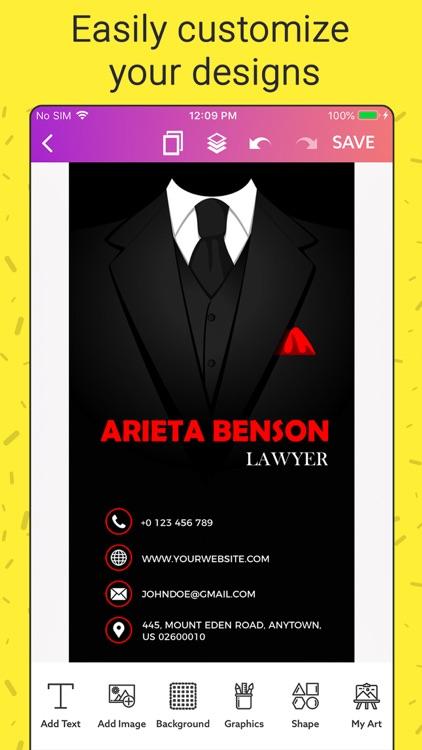 Business Card Maker, Make Card screenshot-5