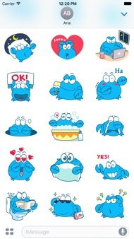 Animated Blue Crab Stickers iphone images