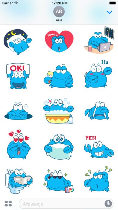 Animated Blue Crab Stickers screenshot 3