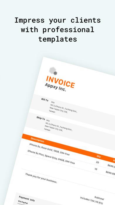 Tiny Invoice - Estimate Maker Screenshot