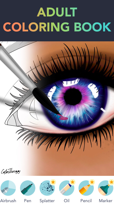 Color Therapy Coloring Number Screenshot