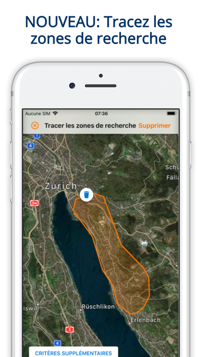 Screenshot #1 pour ImmoScout24 Immobilier Suisse