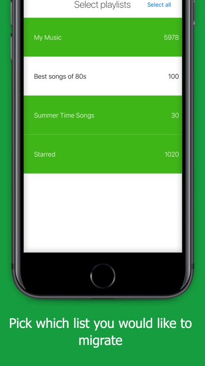 STAMP Transfer Music Playlists screenshot-2
