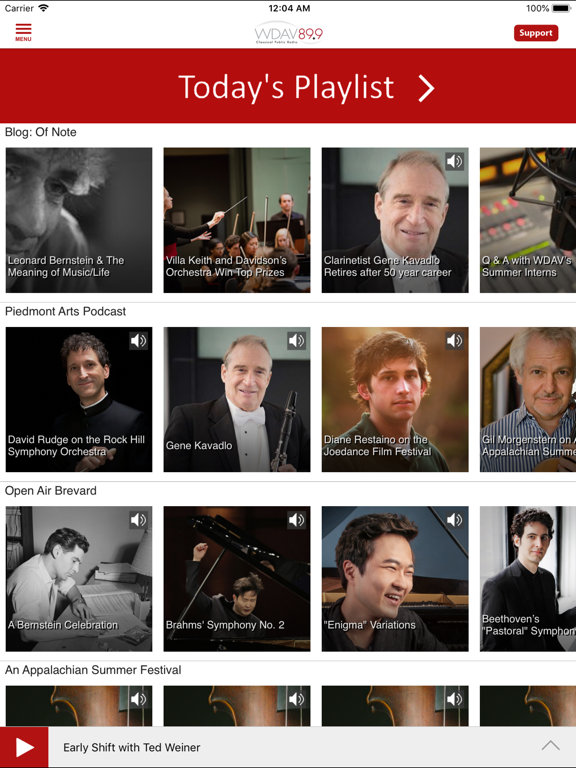 WDAV Classical Public Radio App screenshot