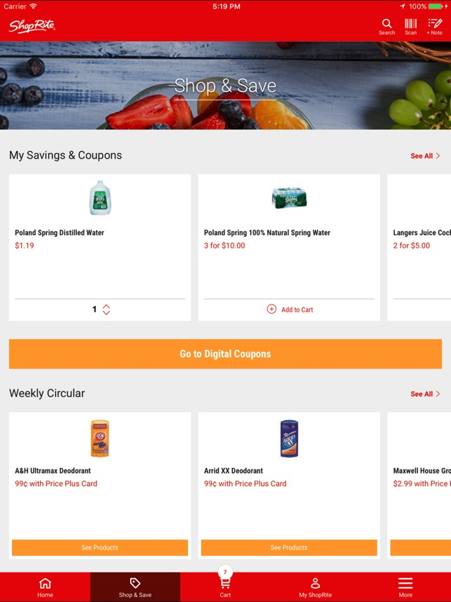 New ShopRite on the App Store