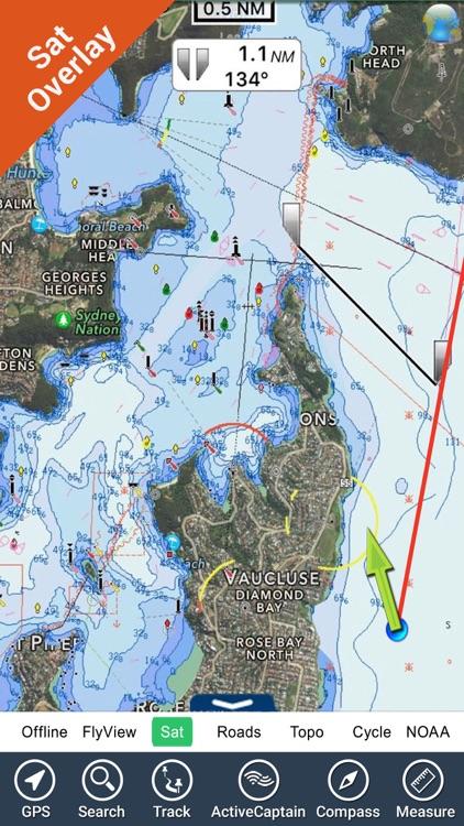 Australia Nautical Charts HD by Flytomap