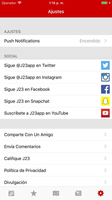 Descargar J23 - Fechas de Lanzamiento para Android