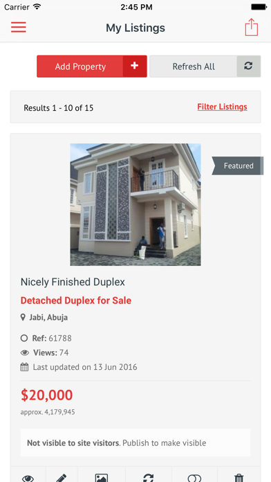 messages.download Nigeria Property Centre software