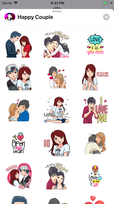 Happy Couple Sticker app image