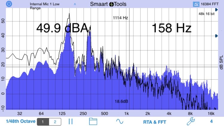 SmaartTools Single Channel RTA screenshot-0