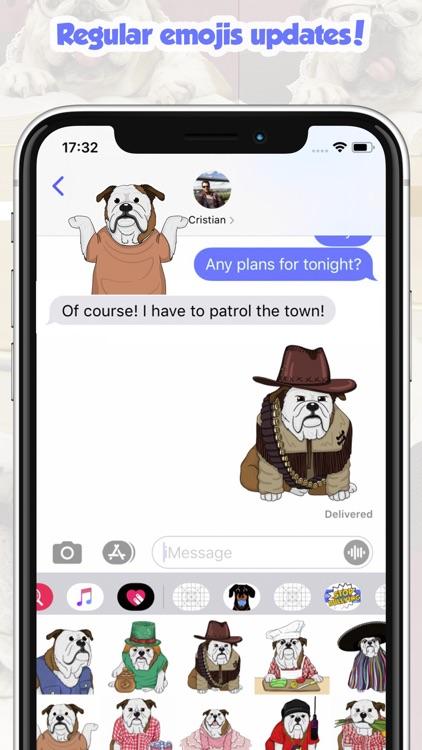 CaramelMoji - Bulldog Stickers screenshot-5