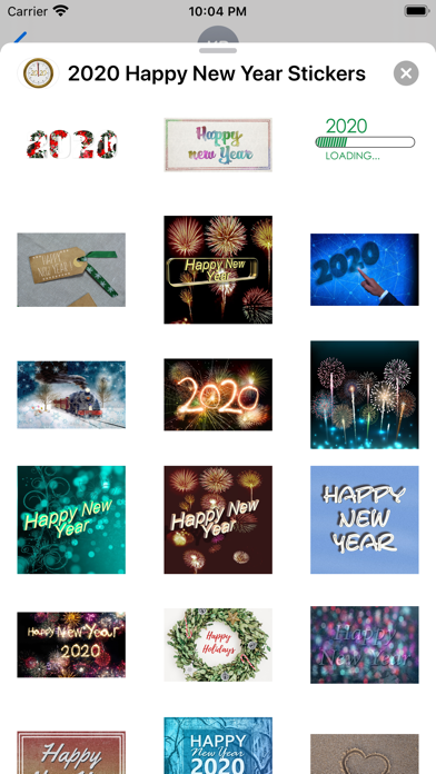 2020 Happy New Year Stickers screenshot 8