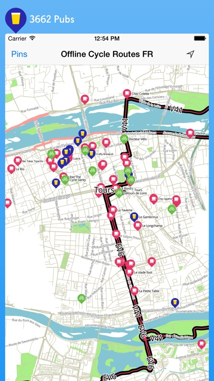 Offline Cycle Routes France screenshot-4