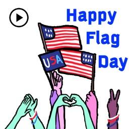 Animated Happy Flag Day USA