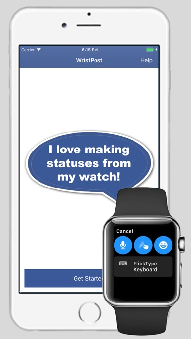 Screenshot for WristPost for Facebook in United States App Store