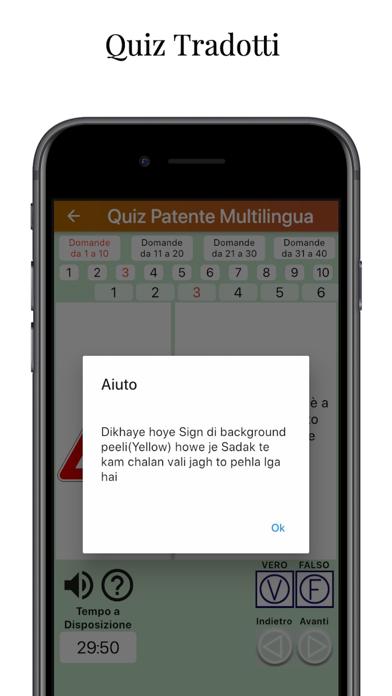 Screenshot of QuizPatente Multilingua3