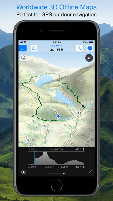 Maps 3D PRO - Outdoor GPS IPA Cracked for iOS Free Download