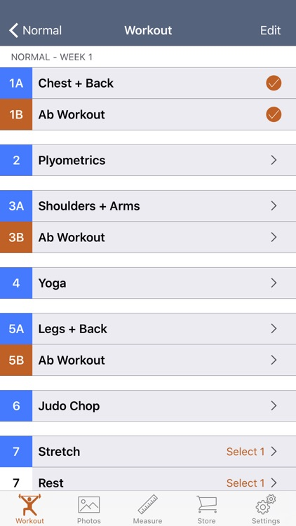 90 Day Workout Tracker 1 screenshot-3