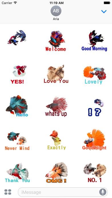 Animated Fighting Fish Sticker screenshot 2