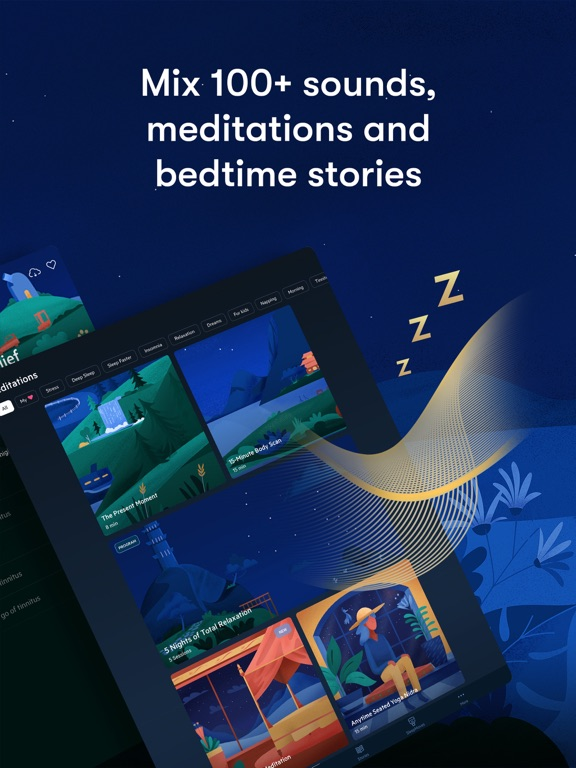 Relax Melodies: Sleep zen sounds & white noise for meditation, yoga and baby relaxation screenshot