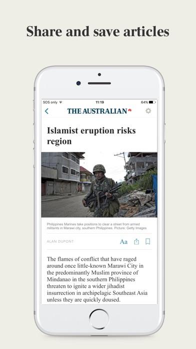 Screenshot for The Australian in United Arab Emirates App Store