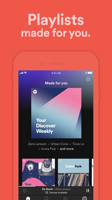 Spotify New music and podcasts Screenshot on iOS