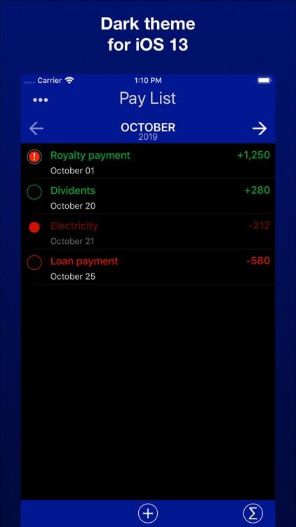 Payment & Expenses Reminder screenshot-3