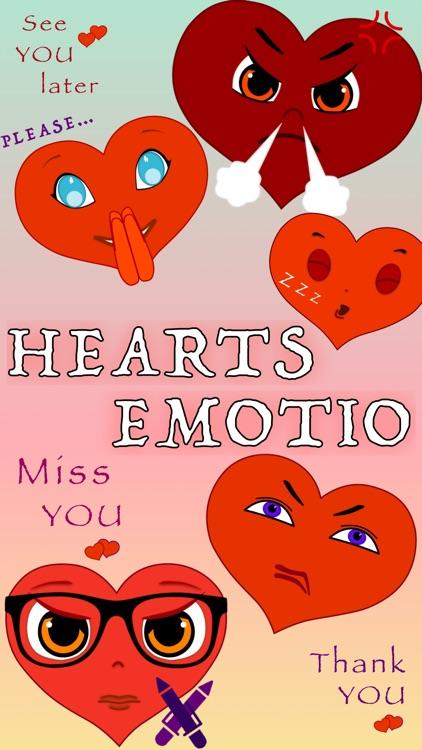 Hearts Emotio Stickers